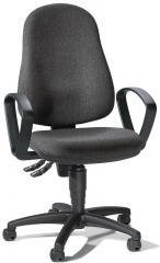 Bürodrehstuhl BASE ART 60 mit Armlehnen Anthrazit | feste Armlehnen