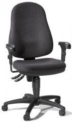 Bürodrehstuhl BASE ART 60 mit Armlehnen Anthrazit | verstellbare Armlehnen