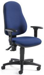 Bürodrehstuhl BASE ART 60 mit Armlehnen Blau | verstellbare Armlehnen