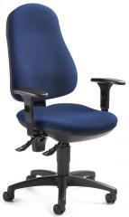 Bürodrehstuhl BASE ART 70 mit Armlehnen Blau | verstellbare Armlehnen