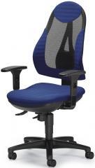 Bürodrehstuhl COMFORT NET PLUS inkl. Armlehnen Schwarz/Blau
