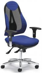 Bürodrehstuhl COMFORT NET PLUS DELUXE Schwarz/Blau