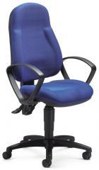 Bürodrehstuhl COMFORT PLUS mit Armlehnen Blau | feste Armlehnen