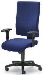 Bürodrehstuhl COMFORT R BIG mit Armlehnen Dunkelblau | verstellbare Armlehnen