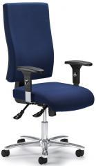 Bürodrehstuhl COMFORT R BIG DELUXE mit Armlehnen Dunkelblau | verstellbare Armlehnen