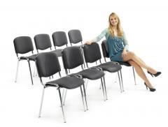 8 Besucherstühle ISO im SET - Stoff Basic C