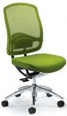 Bürodrehstuhl MATTEGO ohne Armlehnen Apfelgrün/Apfelgrün | ohne Armlehnen (optional) | Aluminium poliert | Nein