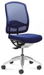 Bürodrehstuhl MATTEGO ohne Armlehnen Blau/Blau | ohne Armlehnen (optional) | Alusilber | Nein