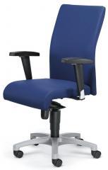 Bürodrehstuhl PROFI ART mit Armlehnen Blau | verstellbare Armlehnen