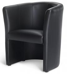 Club-Sessel Schwarz | Sessel | Echtleder