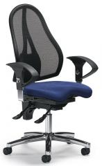 Bürodrehstuhl SITNESS 40 NET inkl. Armlehnen Schwarz/Blau