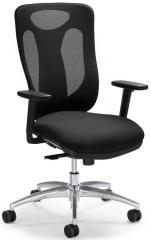 Bürodrehstuhl SITNESS 80 NET inkl. Armlehnen Schwarz/Schwarz
