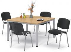 SET-ANGEBOT: 1x Tisch BASE-MODUL Q + 4x Besucherstuhl