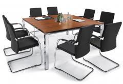 Konferenztische DELUXE - Gestell und Rahmen verchromt