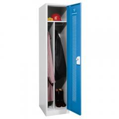 Garderoben-Stahlspind SP1 mit Sockel Himmelblau RAL 5015   1   Drehriegelverschluss