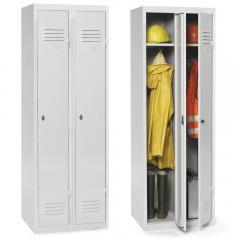 Garderoben-Stahlspind mit Sockel, zerlegt Lichtgrau RAL 7035