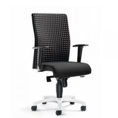 Bürodrehstuhl PROFI ART mit Armlehnen Schwarz Karo Grau | verstellbare Armlehnen