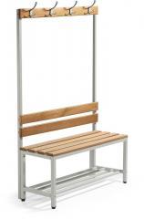 Sitz- und Garderobenbank 1000 | einseitige Garderobenbank