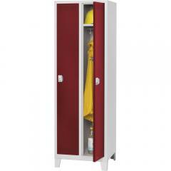 Garderoben-Stahlspind SP PROFI SYSTEM mit Füßen Rubinrot RAL 3003 | mit Füßen | 300 | 2 | Drehriegelverschluss