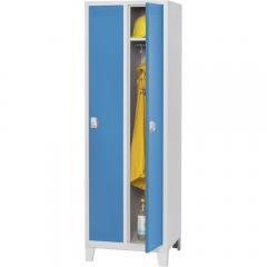 Garderoben-Stahlspind SP PROFI SYSTEM mit Füßen Lichtblau RAL 5012   mit Füßen   300   2   Drehriegelverschluss