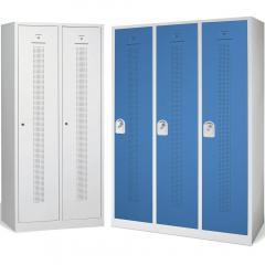 Garderoben-Stahlspinde SYSTEM SP1 mit Sockel, 400 mm Abteilbreite