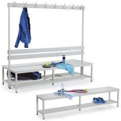 Sitz- und Garderobenbänke mit Kunststoffleisten
