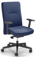 Bürodrehstuhl Ergo PRO inkl. Armlehnen Blau