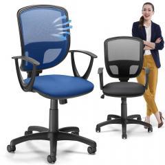 Bürodrehstuhl SIGMA NET mit Armlehnen + Synchronmechanik