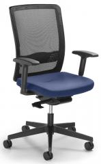 Bürodrehstuhl Ergo NET Schwarz/Blau