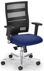 Bürodrehstuhl SITNESS 90 mit Armlehnen Schwarz/Blau
