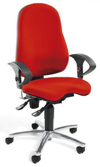 Bürodrehstuhl SITNESS 40 mit Armlehnen Rot