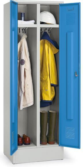 Arbeitsstätten-Garderobenstahlspind Lichtblau RAL 5012