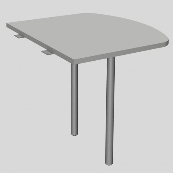 Anbautisch MODUL Lichtgrau | 800 | Anbautisch inkl. 2 Stützfüße | Alusilber RAL 9006