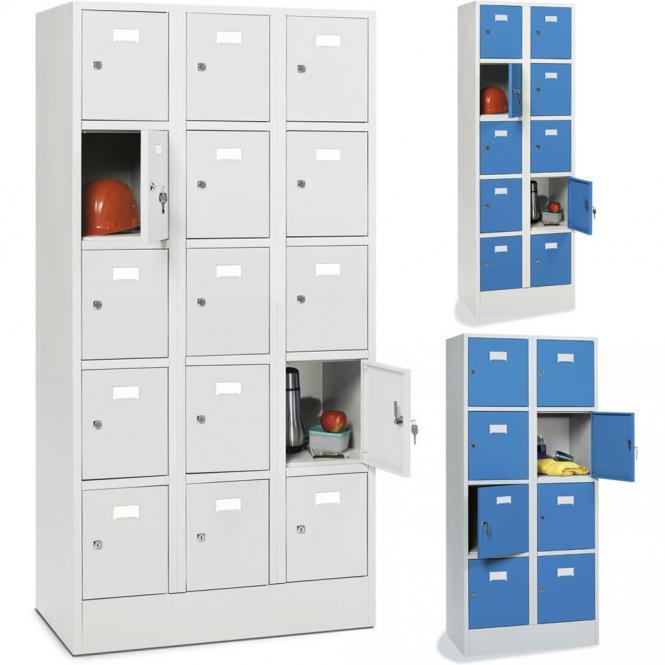 Schließfachschränke SYSTEM SP1 mit Sockel und glatten Türen | bequem ...