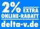 2% extra Online-Rabatt bei jeder Bestellung im Online-Shop