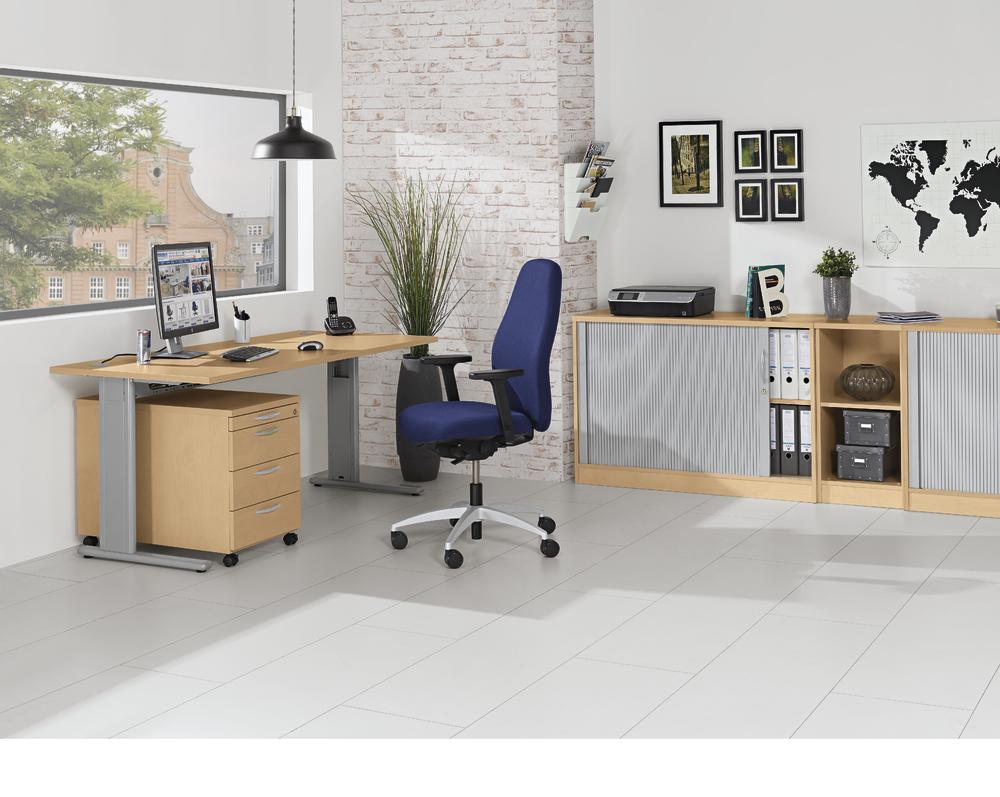 schreibtische basic m mutli modul bequem online bestellen bei delta v office trade. Black Bedroom Furniture Sets. Home Design Ideas
